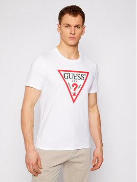 Guess Guess T-Shirt M1RI71 I3Z11 Bílá Slim Fit