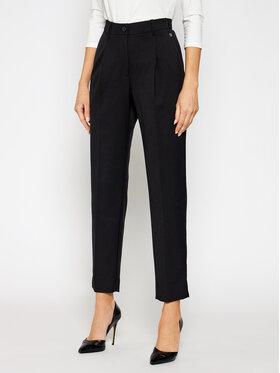Calvin Klein Calvin Klein Bavlnené nohavice Logo Waistband Cigarette K20K202515 Čierna Regular Fit