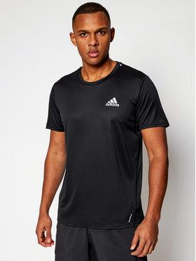 adidas adidas Тениска от техническо трико P. Blue Tee GN5707 Черен Standard Fit