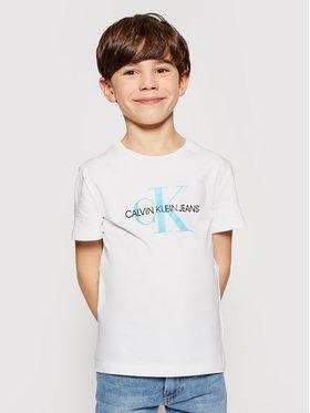 Calvin Klein Jeans Calvin Klein Jeans T-Shirt Monogram Logo IU0IU00068 Biały Regular Fit