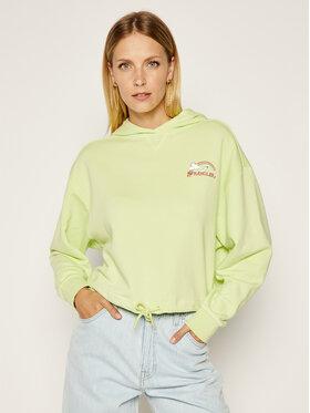 Wrangler Wrangler Bluză Drawcord Hoody W6N1IGG17 Verde Regular Fit