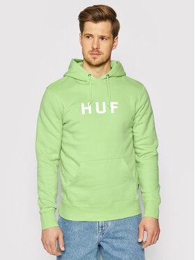 HUF HUF Bluză Essentials Og Logo PF00099 Verde Regular Fit