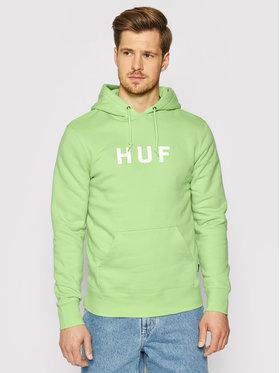 HUF HUF Bluza Essentials Og Logo PF00099 Zielony Regular Fit
