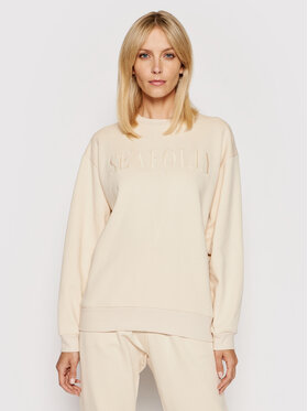 Seafolly Seafolly Bluza Leisure Crew 54569-TO Beżowy Relaxed Fit