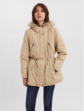 Vero Moda Curve Vero Moda Curve Куртка парка Agnesbeate 10248654 Бежевий Regular Fit