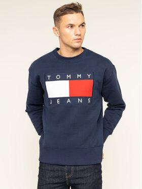 Tommy Jeans Tommy Jeans Bluză TJM Tommy Flag Crew DM0DM07201 Bleumarin Regular Fit