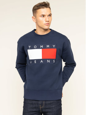 Tommy Jeans Tommy Jeans Felpa TJM Tommy Flag Crew DM0DM07201 Blu scuro Regular Fit