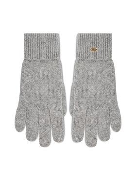 Tommy Hilfiger Tommy Hilfiger Moteriškos Pirštinės Th Lux Cashmire Gloves AW0AW10735 Pilka
