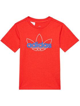 adidas adidas T-Shirt Tee GN2287 Czerwony Regular Fit