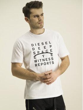 Diesel Diesel T-Shirt Just J5 00S4EL 0091A Biały Regular Fit