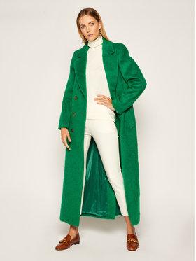 TWINSET TWINSET Μάλλινο παλτό 202TP2601 Πράσινο Regular Fit