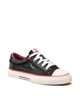 Pepe Jeans Pepe Jeans Sneakers aus Stoff Kenton Origin PLS31233 Schwarz
