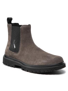 Calvin Klein Jeans Calvin Klein Jeans Sztyblety Lug Mid Chelsea Boot YM0YM00271 Zielony