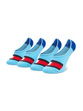 Tommy Hilfiger Tommy Hilfiger Set de 2 perechi de șosete scurte pentru copii 394001001 Albastru