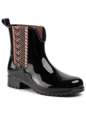 Tommy Hilfiger Tommy Hilfiger Guminiai batai Monogram Rainboot FW0FW04592 Juoda