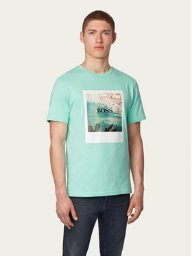Boss Boss Marškinėliai Tsummer 4 50432988 Žalia Regular Fit