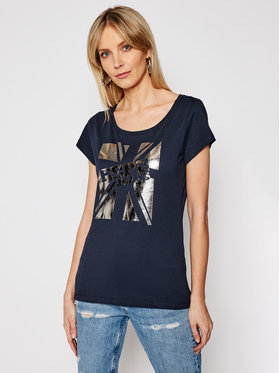 Pepe Jeans Pepe Jeans T-Shirt Alessa PL504795 Granatowy Regular Fit