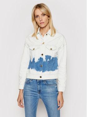 Trussardi Trussardi Kurtka jeansowa Blitch Tye-Dye 56S00632 Biały Cropped Fit
