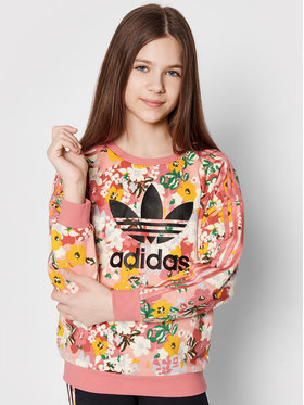 adidas adidas Majica dugih rukava HER Studio London Floral Crew GN4217 Ružičasta Loose Fit