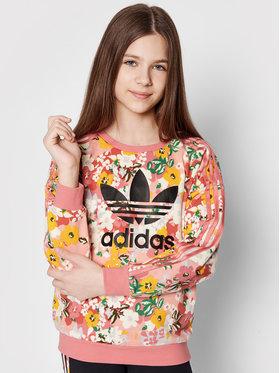 adidas adidas Pulóver HER Studio London Floral Crew GN4217 Rózsaszín Loose Fit