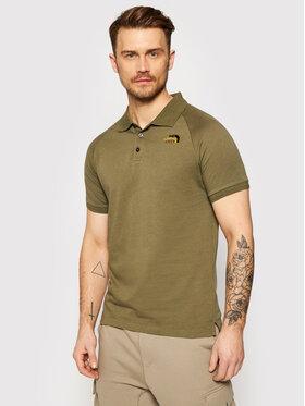 The North Face The North Face Тениска с яка и копчета Raglan J NF0A3BQ27D61 Зелен Regular Fit