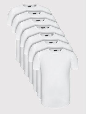 Only & Sons Only & Sons 7db-os póló szett Matt Life Longy 22012787 Fehér Regular Fit