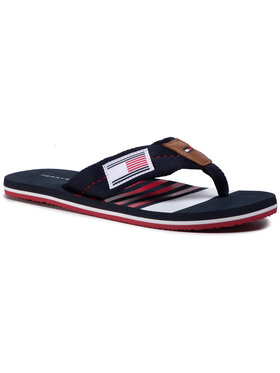 TOMMY HILFIGER TOMMY HILFIGER Джапанки Stripe Print Th Beach Sandal FM0FM02878 Тъмносин