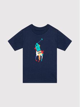 Polo Ralph Lauren Polo Ralph Lauren Marškinėliai Big Pony 323844817002 Tamsiai mėlyna Regular Fit
