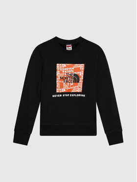 The North Face The North Face Bluza Box Crew NF0A37FY1E31 Czarny Regular Fit