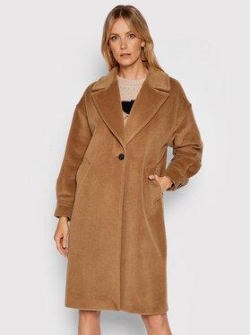 Marella Marella Płaszcz wełniany Azzorre 30160616 Brązowy Regular Fit