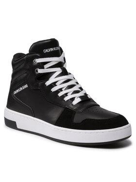 Calvin Klein Jeans Calvin Klein Jeans Sneakersy Cupsole Mid Laceup Basket YM0YM00287 Černá