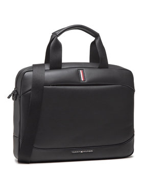 Tommy Hilfiger Tommy Hilfiger Geantă pentru laptop Th Metro Slim Computer Bag AM0AM07210 Negru