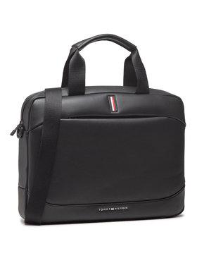 Tommy Hilfiger Tommy Hilfiger Laptoptáska Th Metro Slim Computer Bag AM0AM07210 Fekete