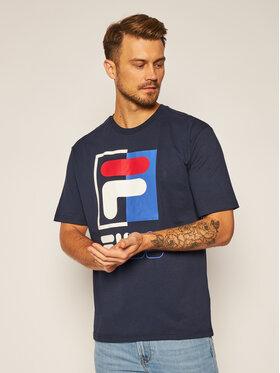 Fila Fila Marškinėliai Saku 687475 Tamsiai mėlyna Regular Fit