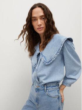 Mango Mango cămașă de blugi Grace 87049060 Albastru Regular Fit