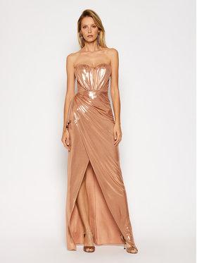 Elisabetta Franchi Elisabetta Franchi Vakarinė suknelė AB-093-07E2-V489 Auksinė Slim Fit
