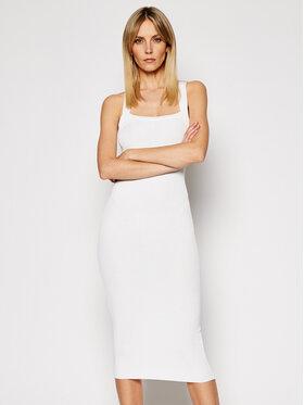 Pinko Pinko Плетена рокля Cricket PE 21 BLK01 1G161K Y6Z9 Бял Slim Fit