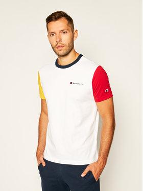 Champion Champion T-shirt Contrast Block 214363 Blanc Comfort Fit
