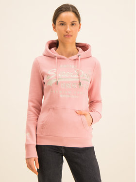 Superdry Superdry Bluza Premium Goods Luxe W2000087A Różowy Regular Fit