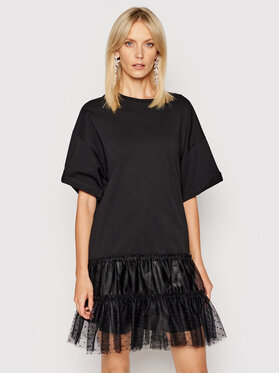 Red Valentino Red Valentino Tunică VR0MG09Z Negru Relaxed Fit