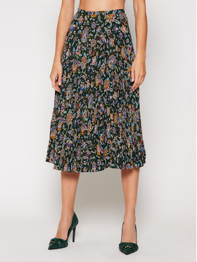 Lauren Ralph Lauren Lauren Ralph Lauren Плисирана пола Pine Multi 200816668001 Зелен Regular Fit