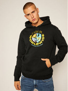 HUF HUF Sweatshirt Oxy PF00278 Schwarz Regular Fit