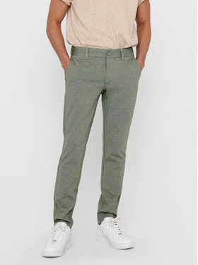 Only & Sons ONLY & SONS Текстилни панталони Mark 22015833 Зелен Regular Fit