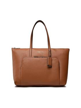 Calvin Klein Calvin Klein Handtasche Must Shopper Lg W/Pocket K60K608622 Braun