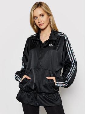 adidas adidas Анорак Half-Zip GN3105 Черен Regular Fit