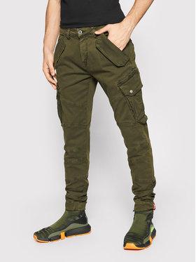 Alpha Industries Alpha Industries Pantalon en tissu Combat 126215 Vert Slim Fit