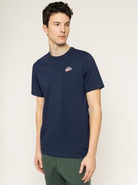 NIKE NIKE T-Shirt Heritage BV7882 Granatowy Standard Fit