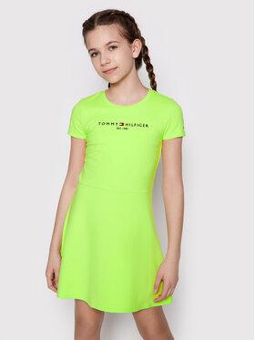 Tommy Hilfiger Tommy Hilfiger Každodenné šaty Essential Skater KG0KG05789 D Zelená Regular Fit