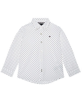 TOMMY HILFIGER TOMMY HILFIGER Camicia Mini Flag KB0KB06181 D Bianco Regular Fit