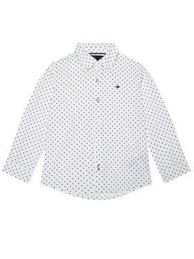 TOMMY HILFIGER TOMMY HILFIGER Koszula Mini Flag KB0KB06181 D Biały Regular Fit